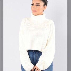 Tan sweater from fashion nova